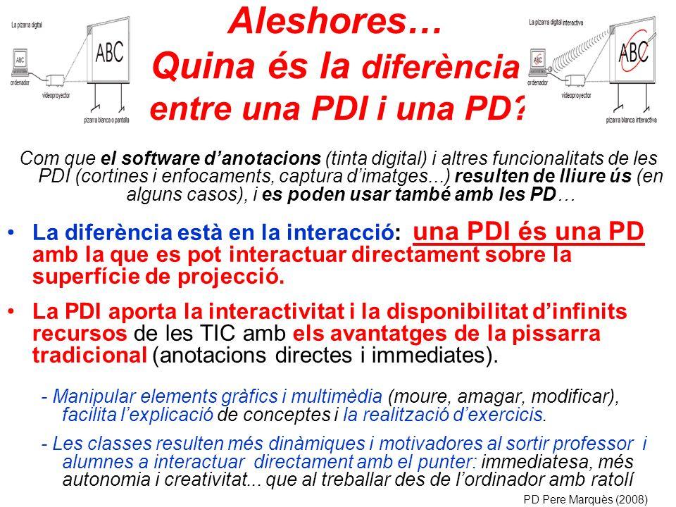 Aleshores… Quina és la diferència entre una PDI i una PD.