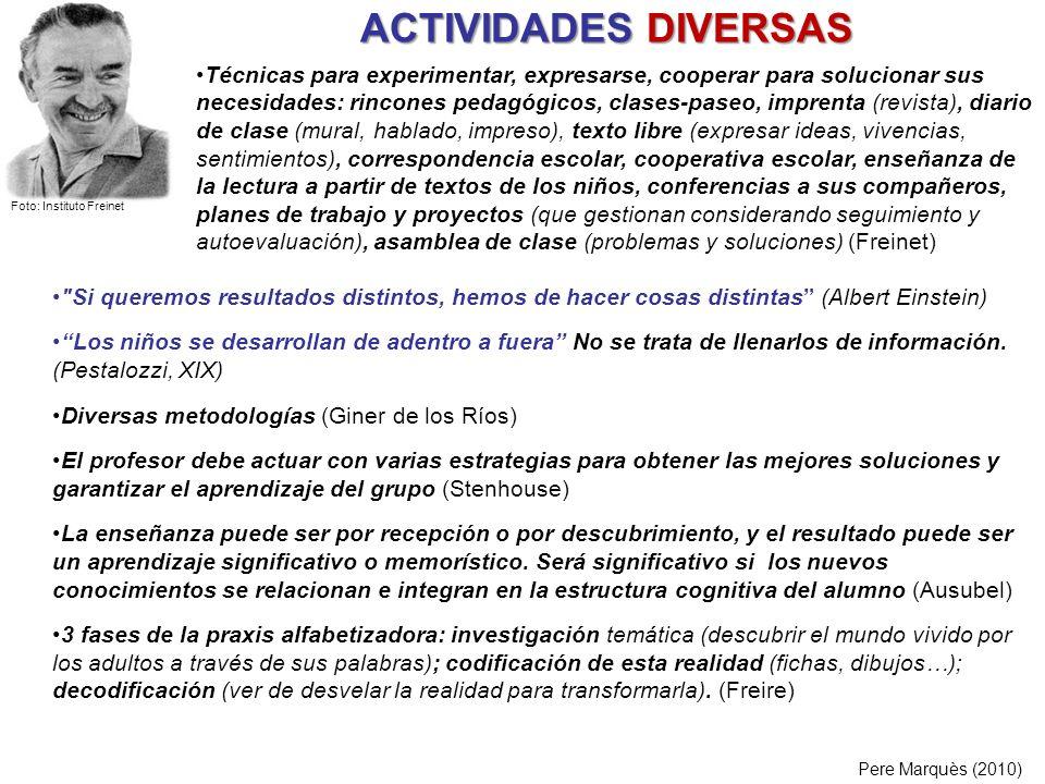 ACTIVIDADES DIVERSAS