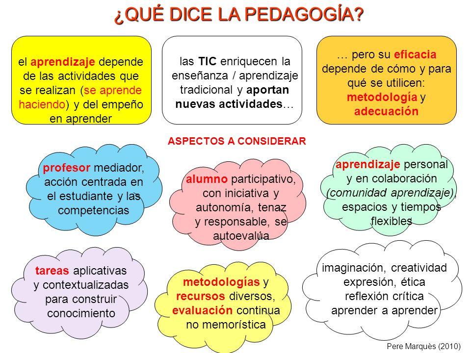 Pere Marquès (2010) Los principios de la Pedagogía actual (a veces llamada nueva pedagogía en oposición a la pedagogía memorística) ya fueron enunciados por los educadores de la Escuela Nueva hace más de 100 años.