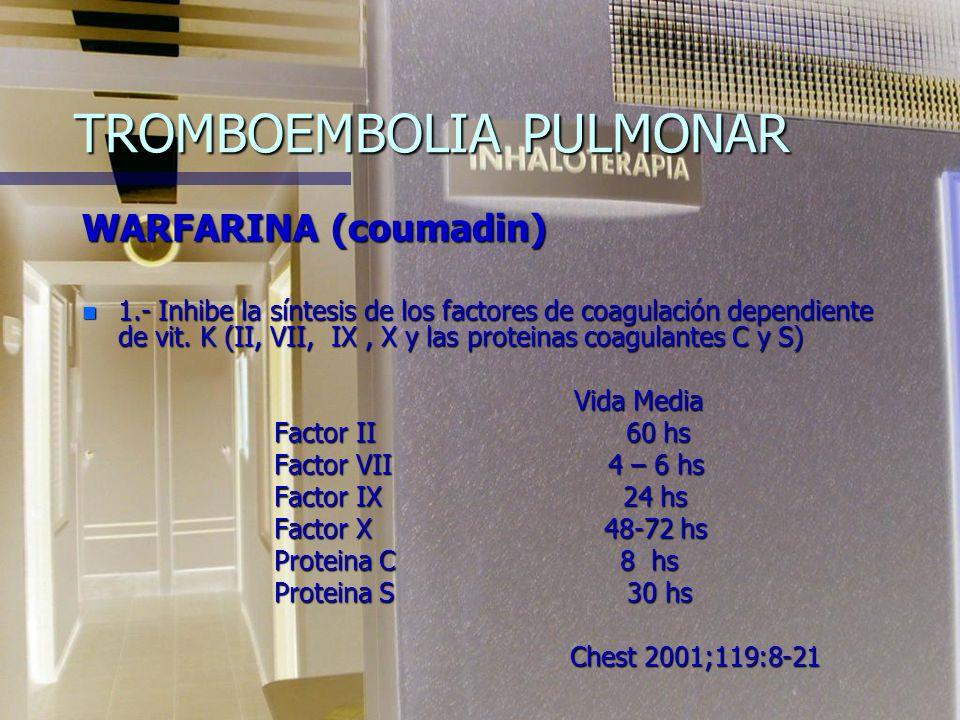 NADROPARINA n Puede potenciar su actividad los Aines, antiagregantes plaquetarios, dextranos y antivitaminas K n Posología en profilaxis: 50 Kg o meno