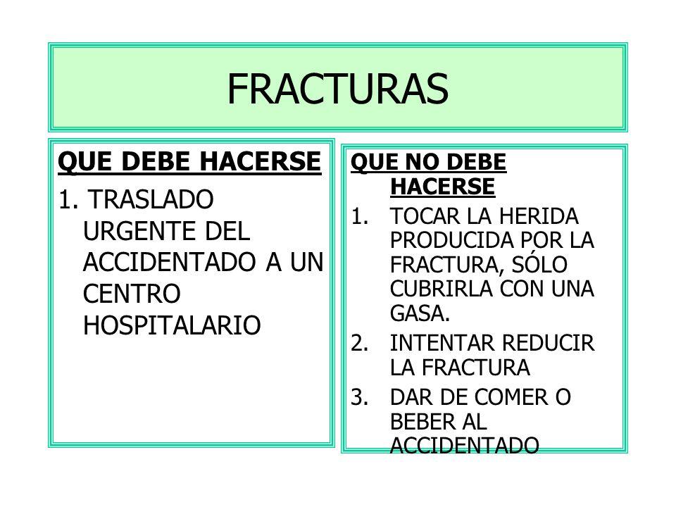 SÍNTOMAS DOLOR INTENSO IMPOSIBILIDAD FUNCIONAL DE LA PARTE AFECTADA DEFORMACIÓN DE LA ZONA LESIONADA SUELEN ACOMPAÑARSE DE HEMATOMAS