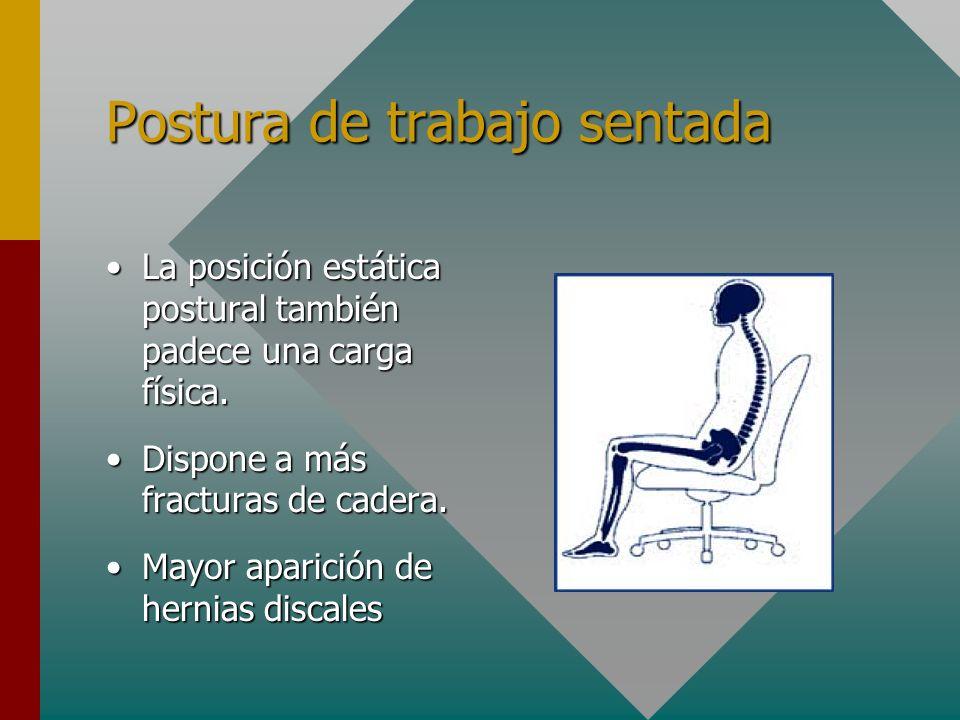 Posición sedente La columna no está preparada para estar largas horas sentados, sin movimientoLa columna no está preparada para estar largas horas sentados, sin movimiento Dañamos discos intervertebrales, músculos de la espalda y ligamentosDañamos discos intervertebrales, músculos de la espalda y ligamentos
