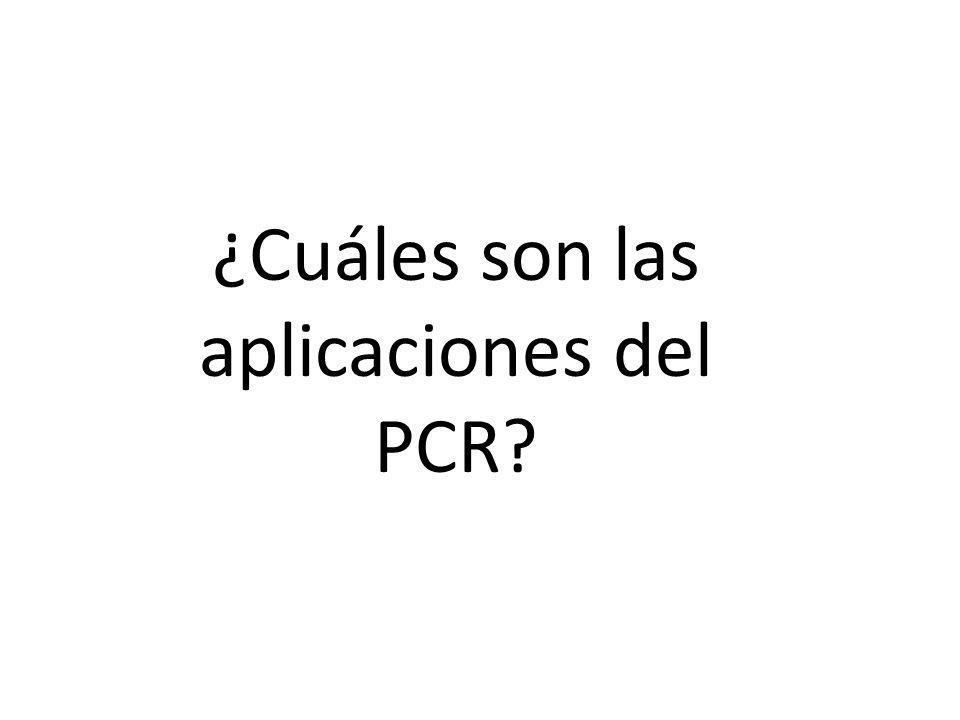 ¿Cuáles son las aplicaciones del PCR?