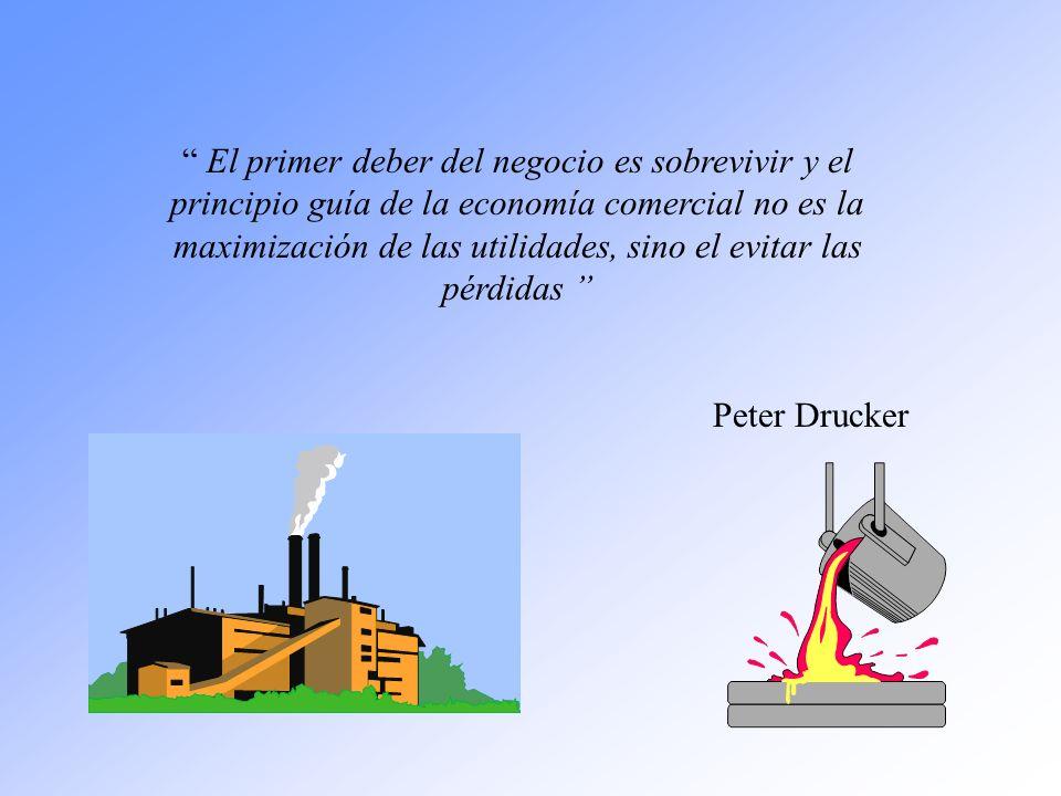 El primer deber del negocio es sobrevivir y el principio guía de la economía comercial no es la maximización de las utilidades, sino el evitar las pér