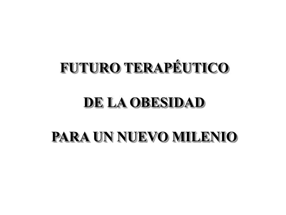 FUTURO TERAPÉUTICO DE LA OBESIDAD PARA UN NUEVO MILENIO FUTURO TERAPÉUTICO DE LA OBESIDAD PARA UN NUEVO MILENIO