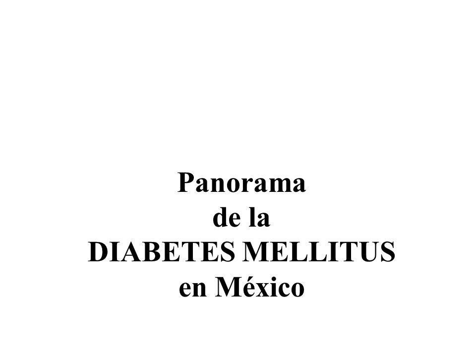 Panorama de la DIABETES MELLITUS en México