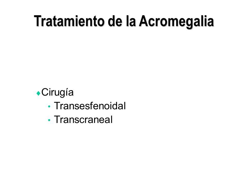 Tratamiento de la Acromegalia Cirugía Transesfenoidal Transcraneal