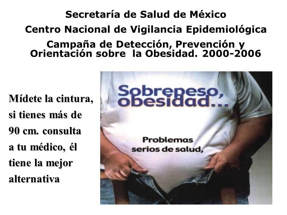 Secretaría de Salud de México Centro Nacional de Vigilancia Epidemiológica Campaña de Detección, Prevención y Orientación sobre la Obesidad. 2000-2006