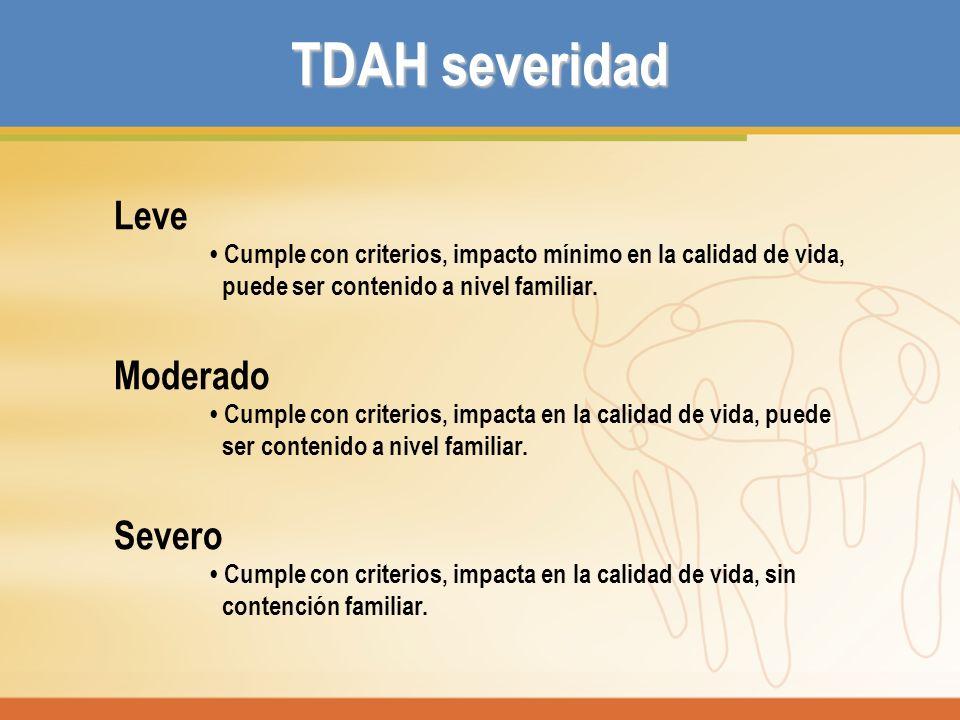 Impacto sobre la familia Padres de niños con TDAH experimentan altos niveles de: Stress (preocupación, ansiedad, frustración y enojo, sentimientos de incompetencia).