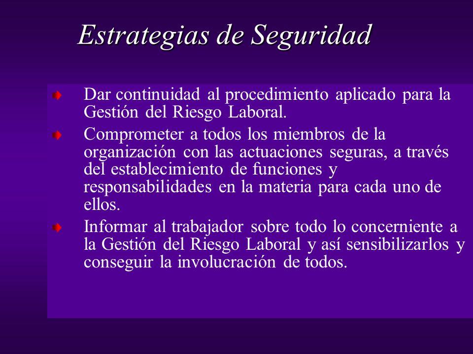 Dar continuidad al procedimiento aplicado para la Gestión del Riesgo Laboral. Comprometer a todos los miembros de la organización con las actuaciones