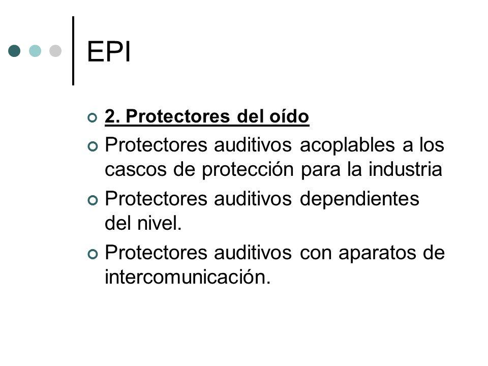EPI 2. Protectores del oído Protectores auditivos acoplables a los cascos de protección para la industria Protectores auditivos dependientes del nivel