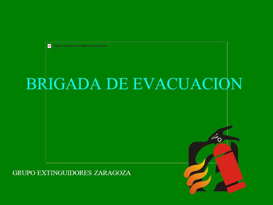 BRIGADA DE EVACUACION GRUPO EXTINGUIDORES ZARAGOZA