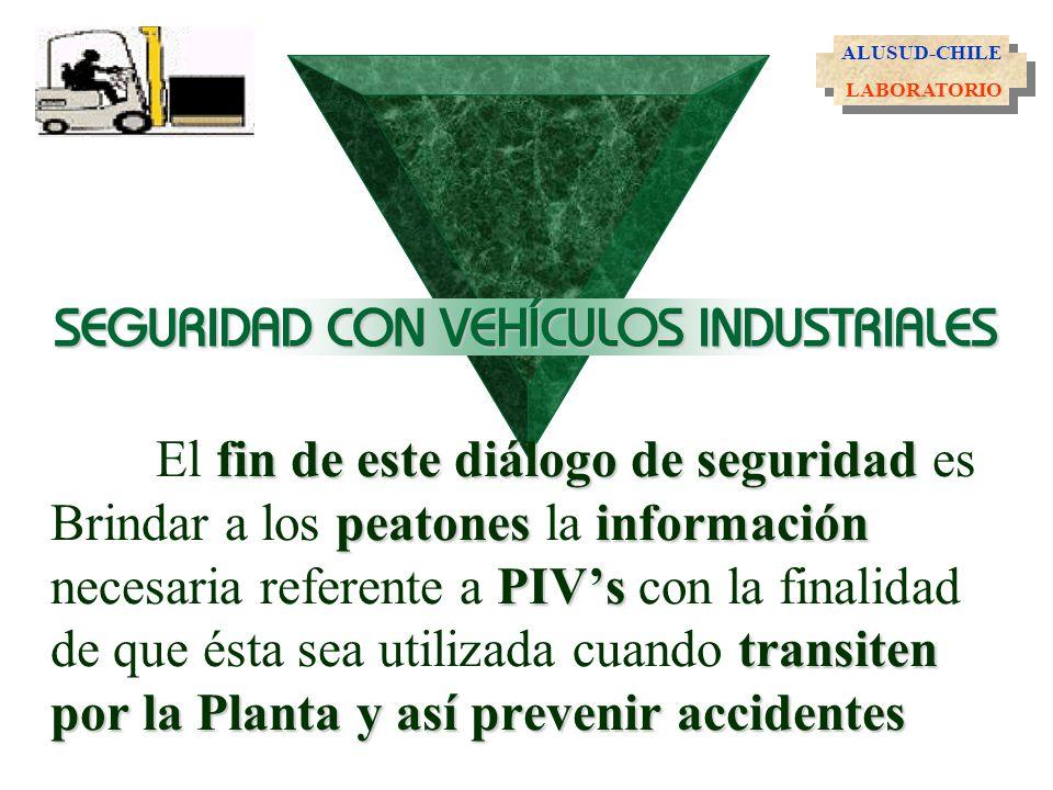 fin de este diálogode seguridad peatonesinformación PIVs transiten por la Planta y así prevenir accidentes El fin de este diálogo de seguridad es Brin