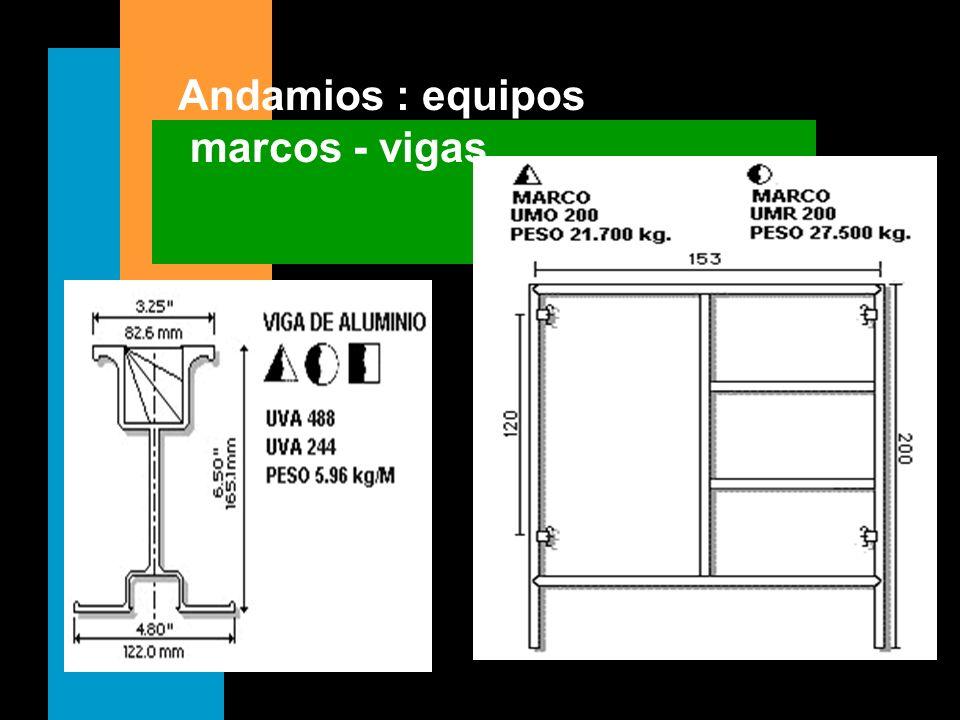 Andamios : equipos marcos - vigas