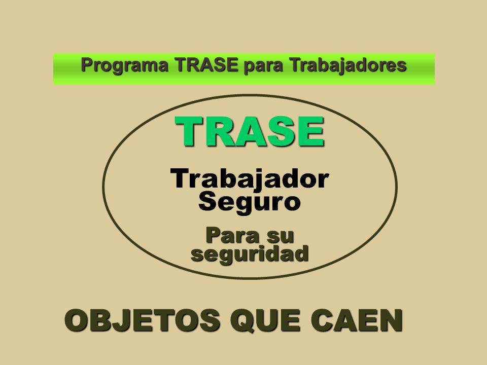 Programa TRASE para Trabajadores OBJETOS QUE CAEN TRASE Trabajador Seguro Para su seguridad