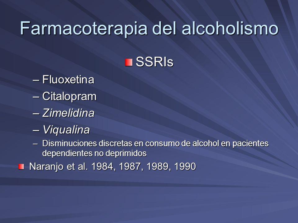 Farmacoterapia del alcoholismo SSRIsFluoxetina Gerra et al.