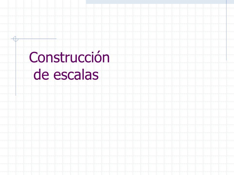 Construcción de escalas