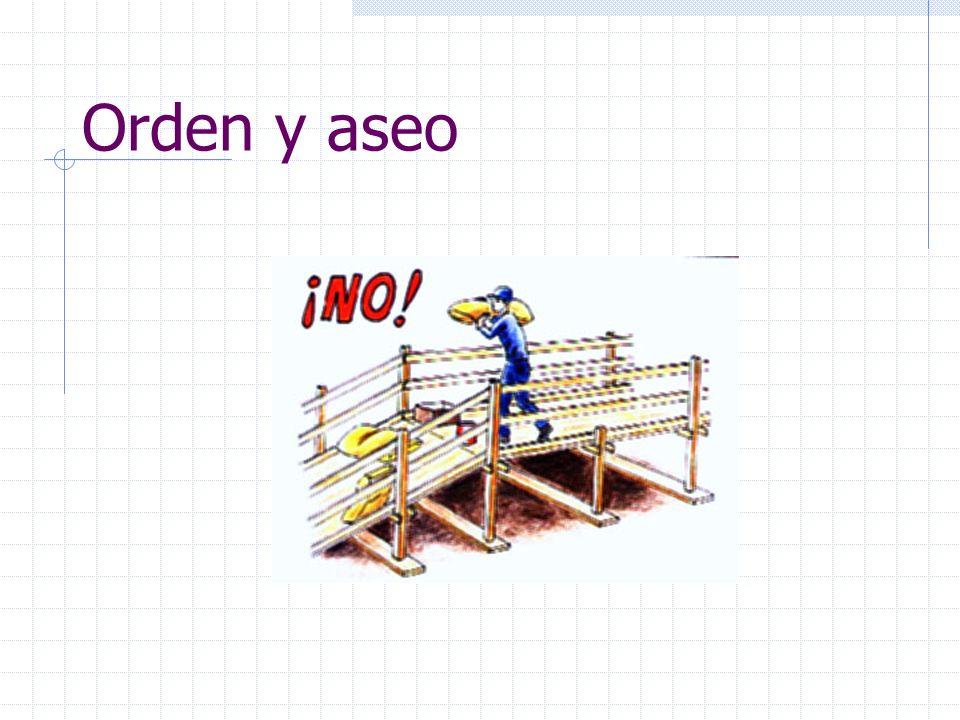 Escaleras provisorias Se debe evitar el uso exagerado de escalas de mano Cuando se van usar por largo tiempo se deben construir escaleras provisorias de acuerdo a normas, con un ancho suficiente para que pasen dos personas