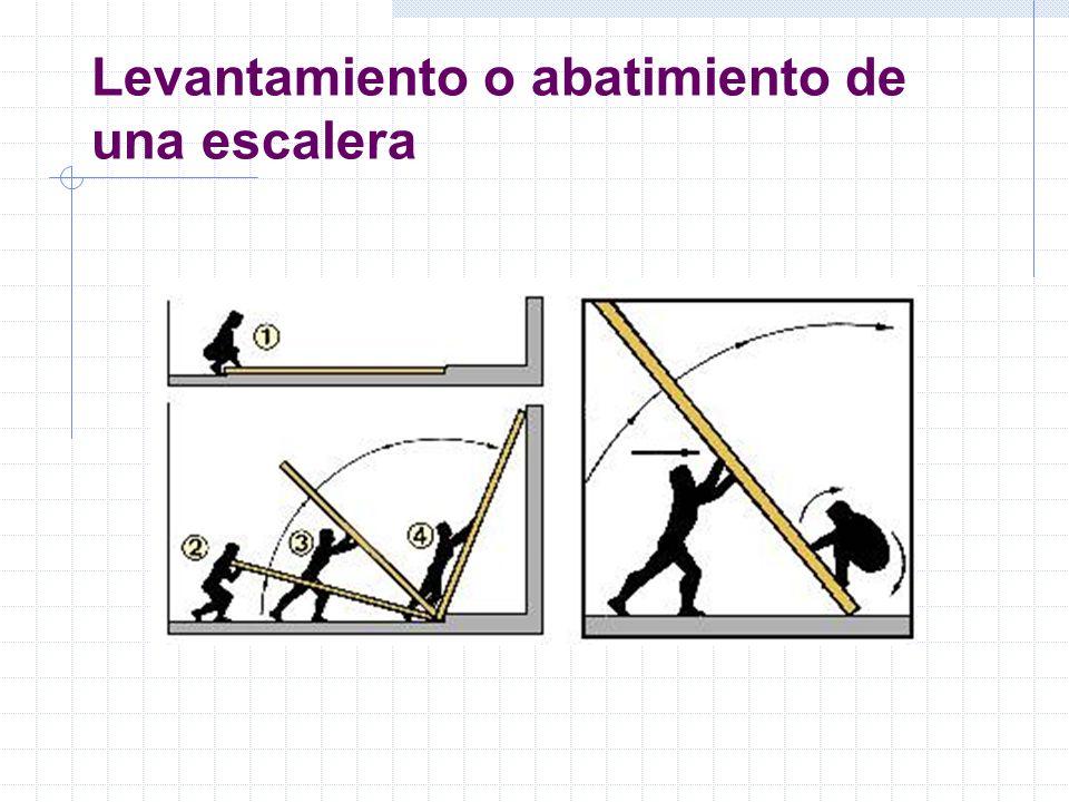 Levantamiento o abatimiento de una escalera