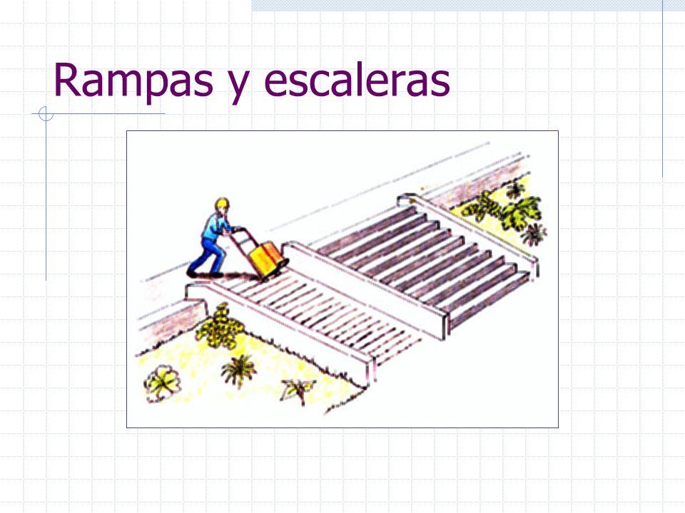 Causas de accidentes Actos inseguros: Llevar objetos en las manos al subir o bajar