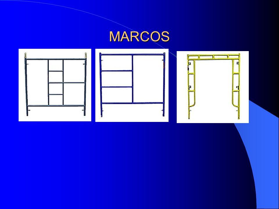 DESCRIPCIÓN DE LOS MARCOS VERTICALES Los marcos son los elementos básicos para la sustentación de los diferentes pisos de la andamiada ya que transmit