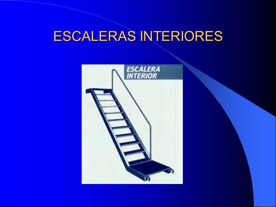 Lo ideal sería que las escaleras de acceso a los diferentes niveles no interfirieran a la propia superficie de las pasarelas de trabajo. Las pasarelas