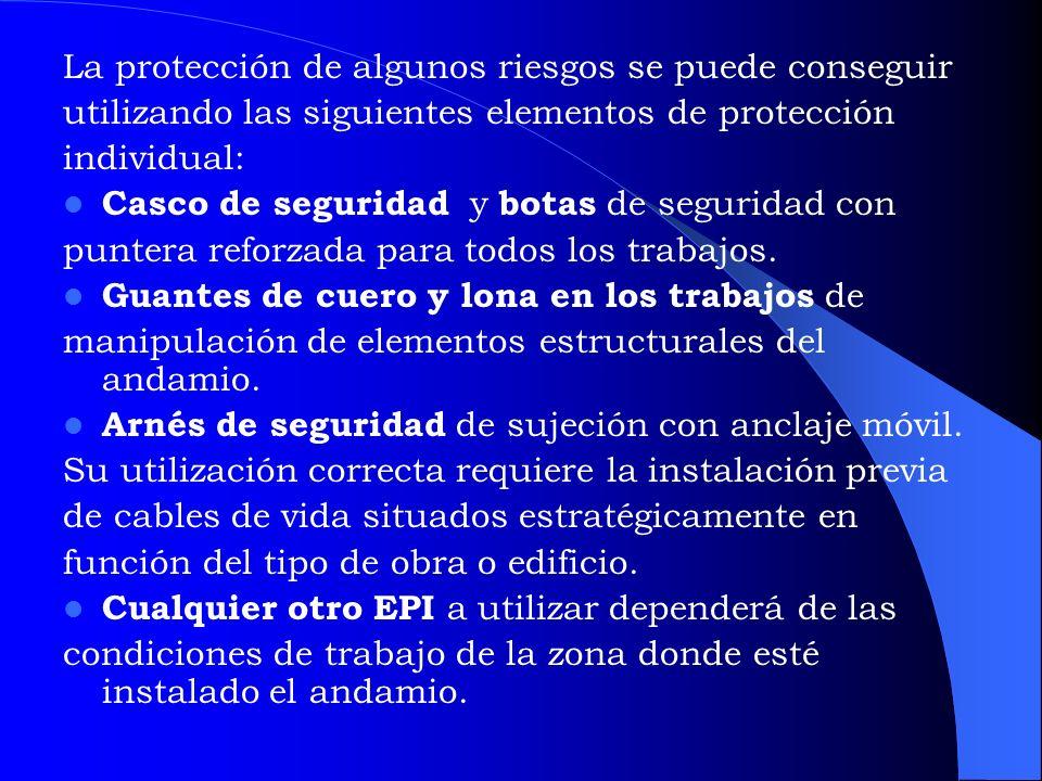 EQUIPO DE PROTECCIÓN PERSONAL A OCUPAR PARA ARMAR EL ANDAMIO