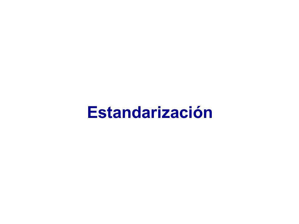 ESTANDARIZACIÓN Técnica de control de las variables concomitantes en el momento del análisis de los datos STANDARDIZATION