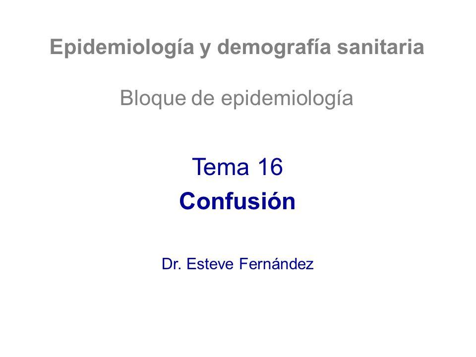 ¿Qué queremos aprender.1.El concepto de confusión y factor de confusión en epidemiología.
