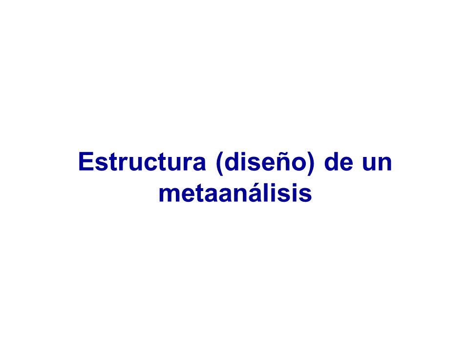 Estructura (diseño) de un metaanálisis