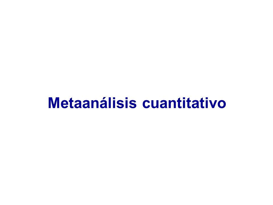 Metaanálisis cuantitativo