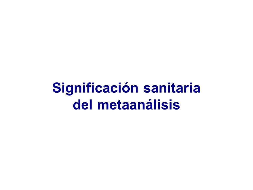 Significación sanitaria del metaanálisis