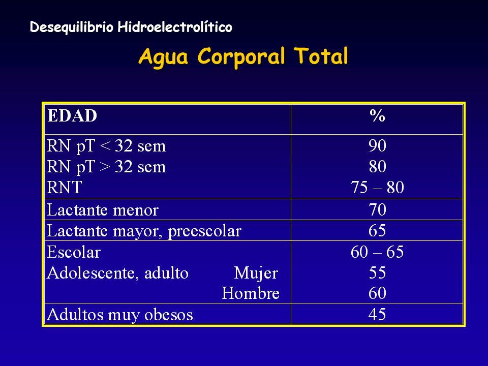 Agua Corporal Total Desequilibrio Hidroelectrolítico