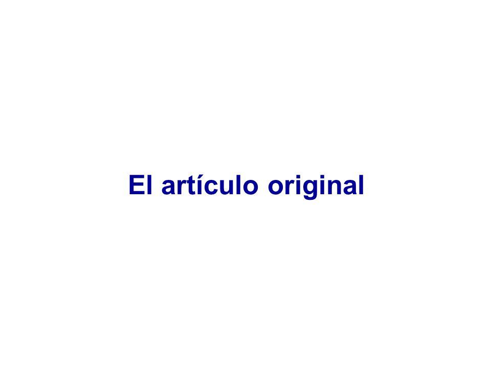Original Autoría firmantes Primera divulgación IMRDIMRD Introducción: ¿Por qué se hizo.