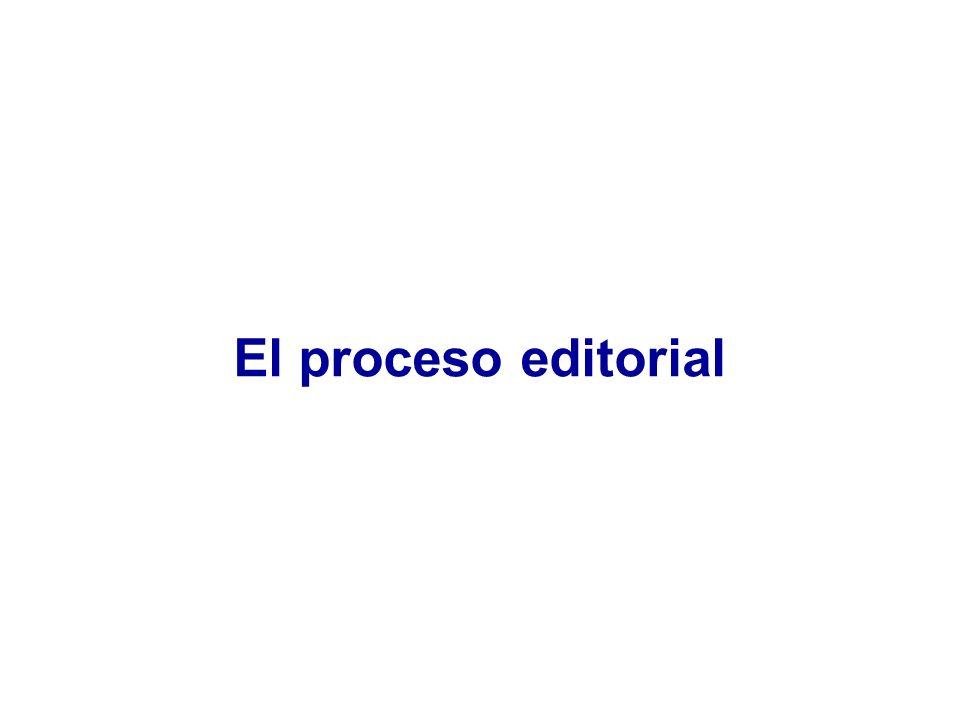 Recepción manuscrito Director + Editor asociado Evaluador1 Evaluador2 Director + Editor asociado + Comité Solicitud de revisión Rechazo Aceptación El proceso editorial en las revistas biomédicas (1) Peer review Revisión por pares