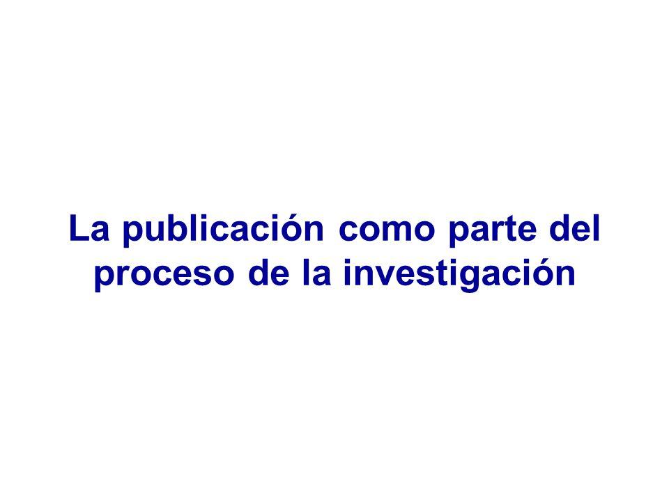 Pregunta a investigar Diseño del estudio Realización del estudio Resultados del estudio Conocimientos previos Artículos científicos