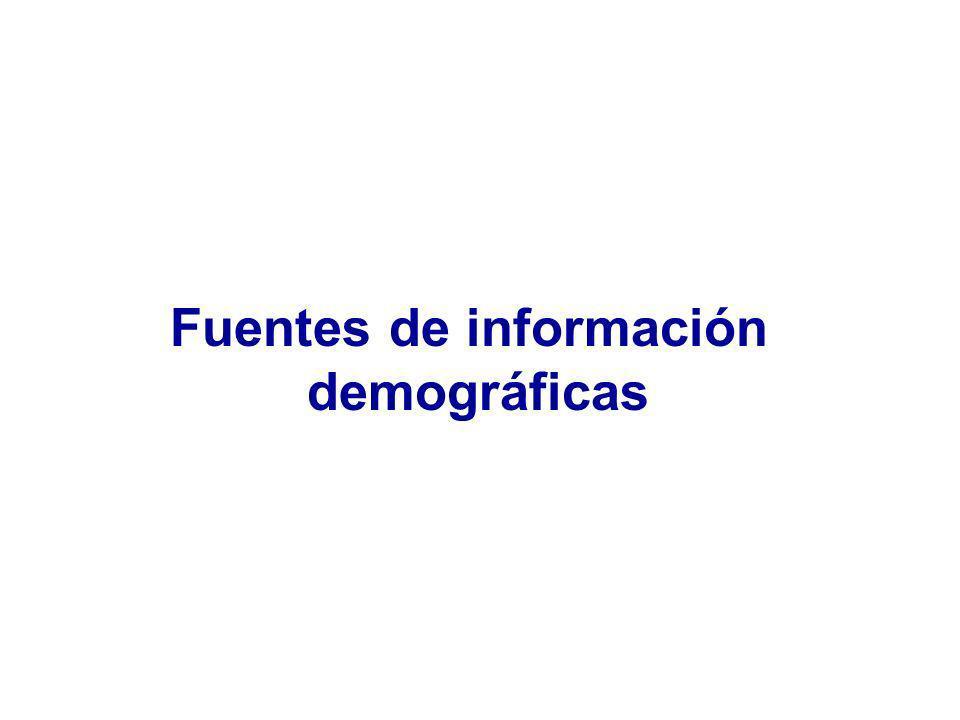 Fuentes de información demográficas