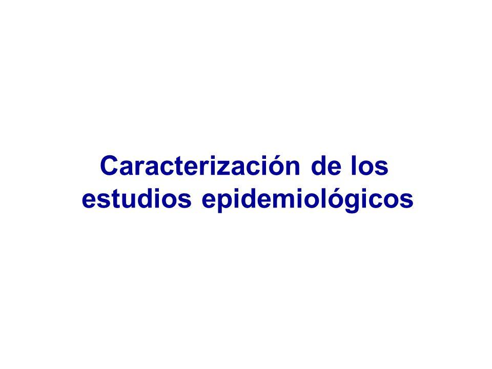 Caracterización de los estudios epidemiológicos