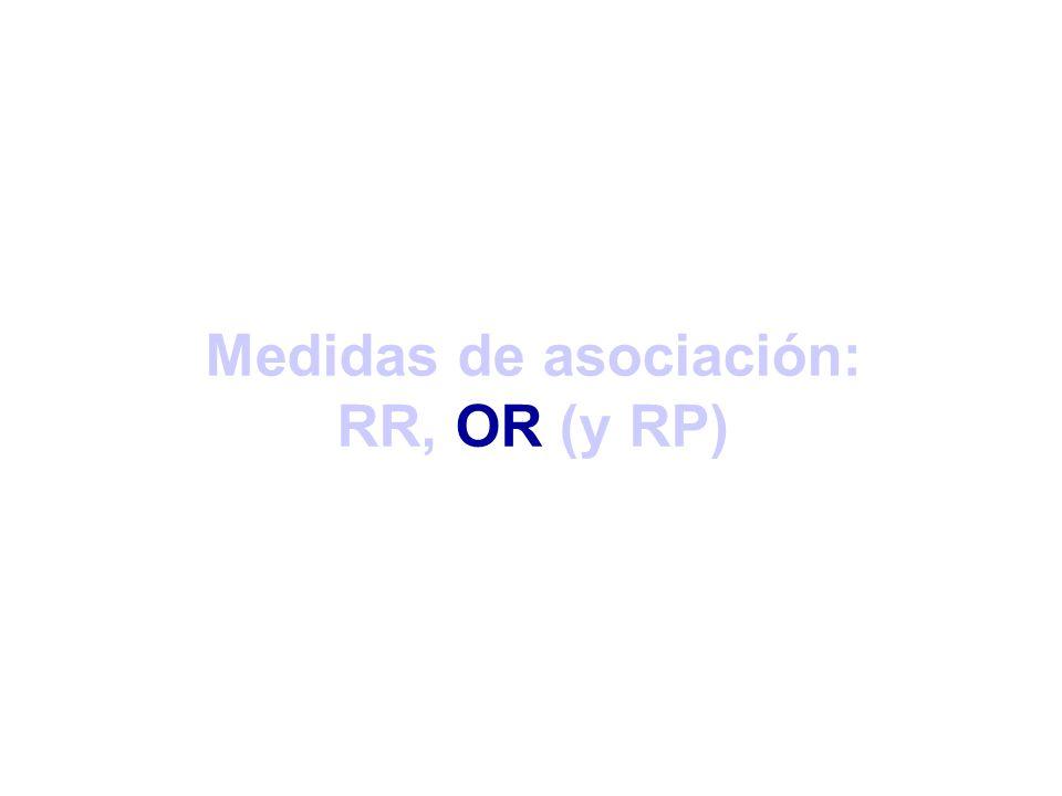 Medidas de asociación: RR, OR (y RP)