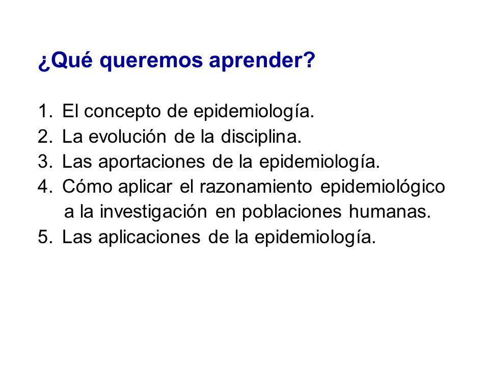Aplicaciones de la epidemiología 3.
