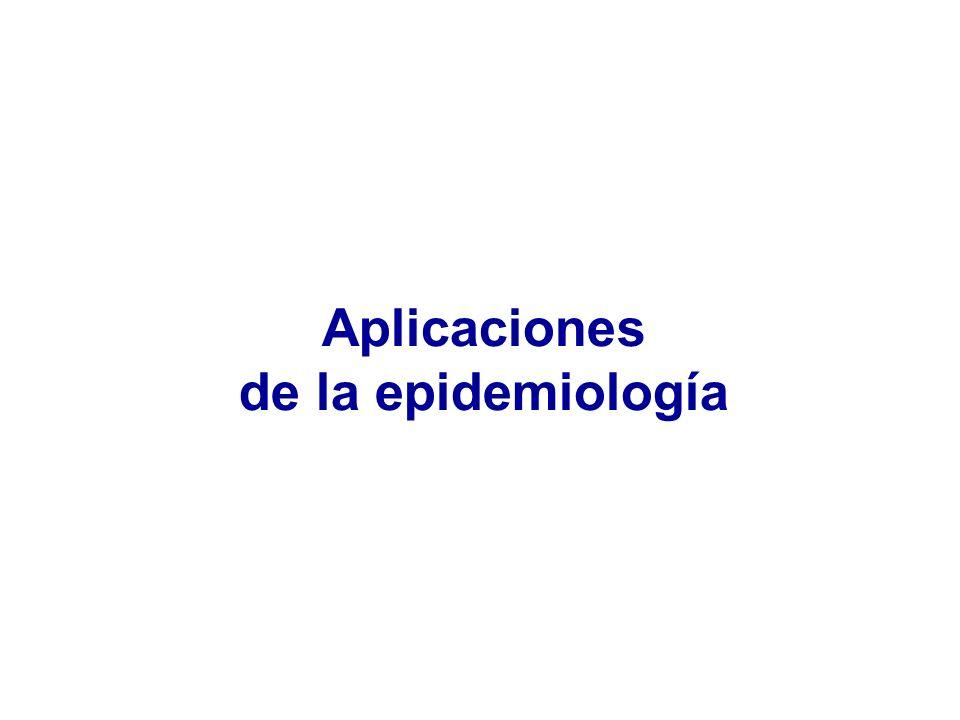 Aplicaciones de la epidemiología