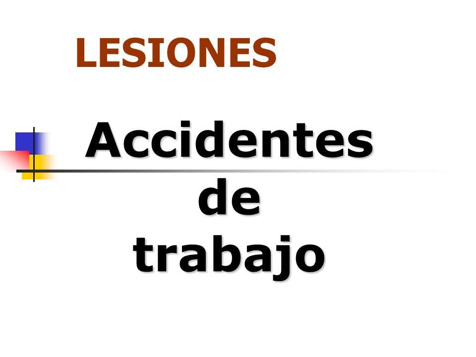 Accidentes de trabajo LESIONES