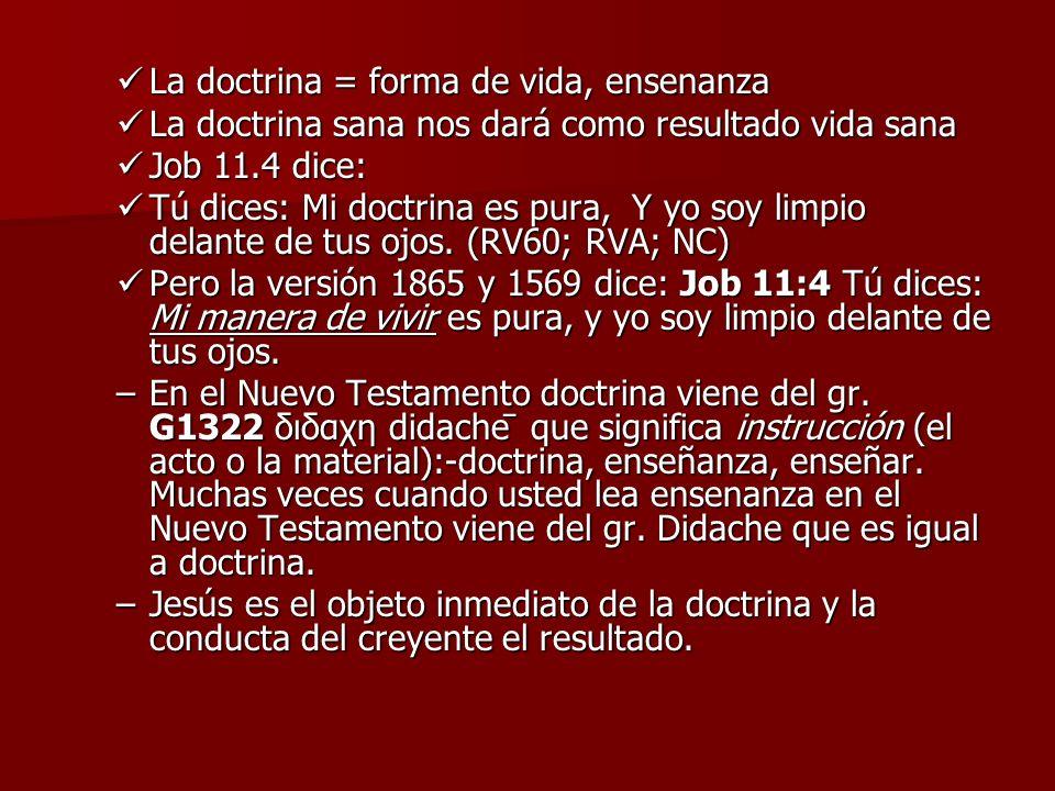 3.BENEFICIOS DE RECIBIR LA DOCTRINA DE CRISTO a.