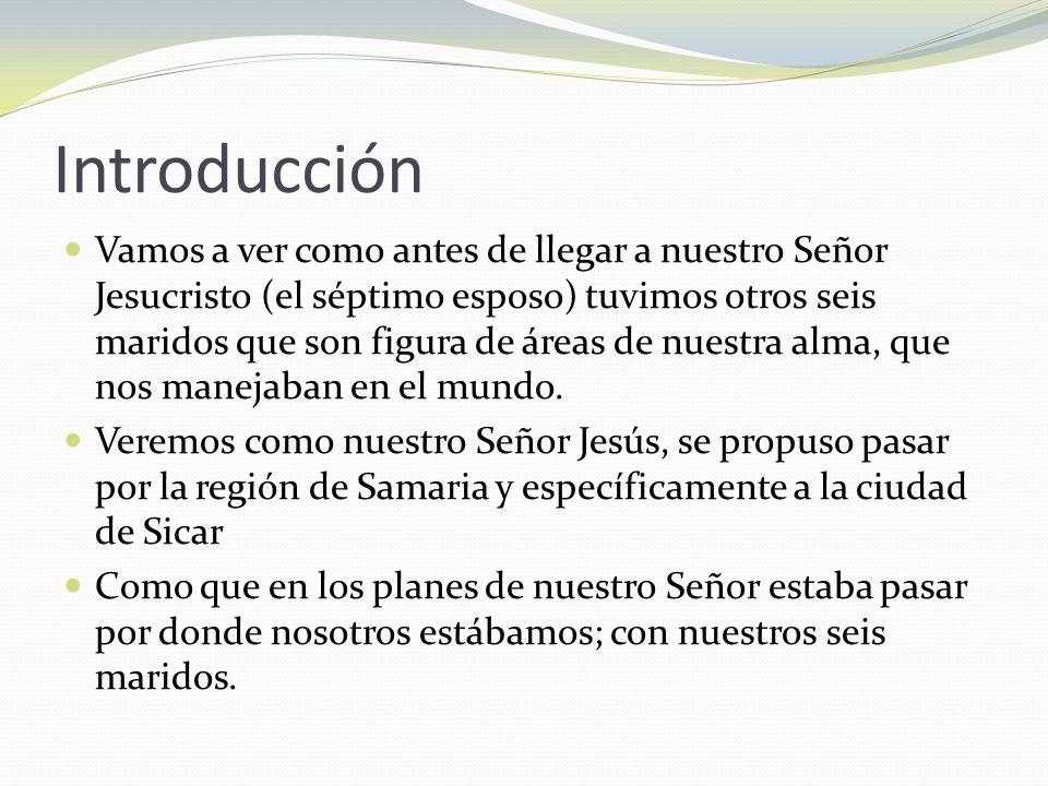 La Samaritana A.La samaritana es figura de la esposa.