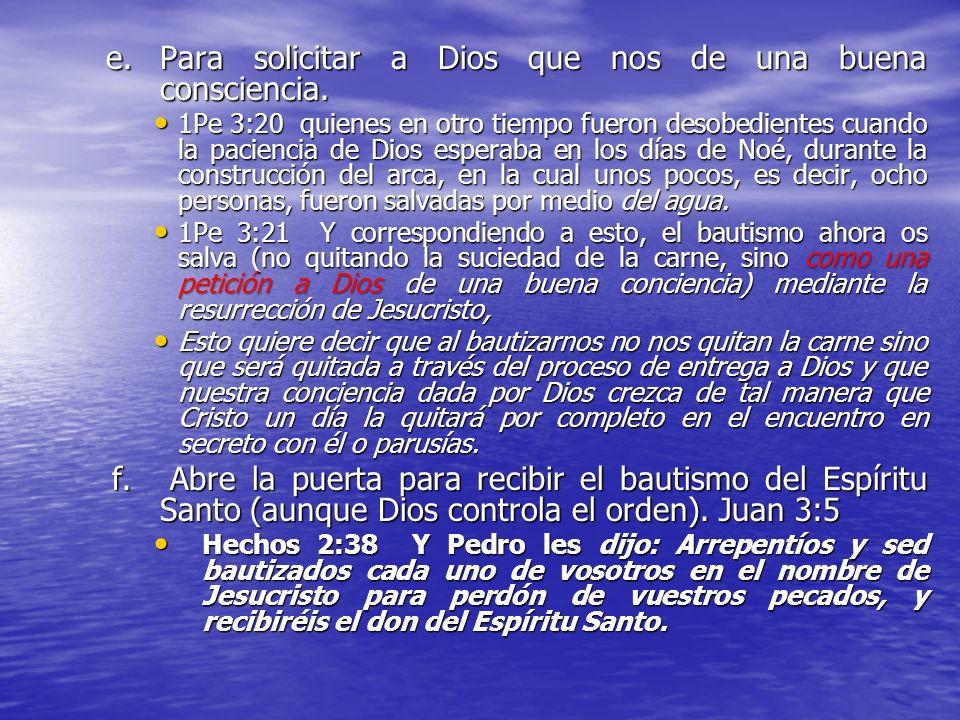 D. ¿Por que es tan importante bautizarse? a.Porque es una orden que mi Señor Jesucristo dio para todos los que quieran ser discípulos de Jesús. Mat 28