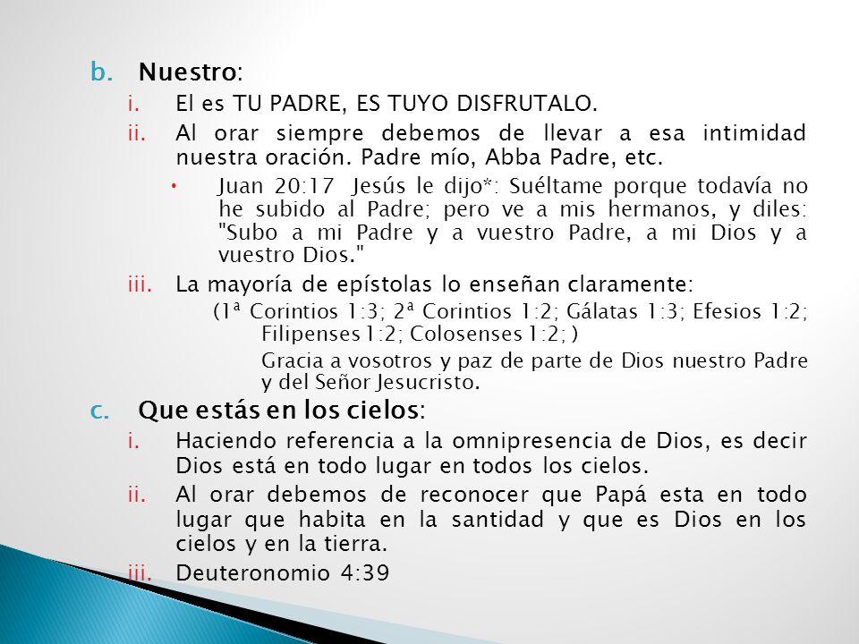 5. ¿Cómo hay que orar? un modelo de oración Vamos a estudiar la oración de Mateo 6:9-13 y nos daremos cuenta que es un modelo de oración y no la única