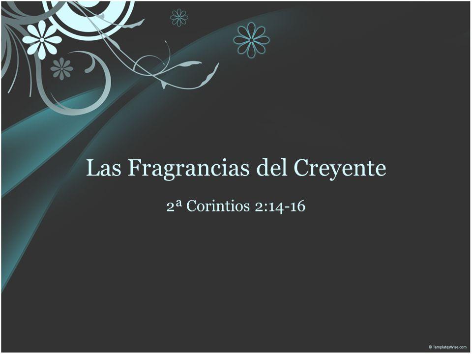 Introducción Los términos fragancia, aromas, u olor se derivan de una misma palabra hebrea Estas palabras son figura de las conductas del creyente delante de Dios y de los hombres.