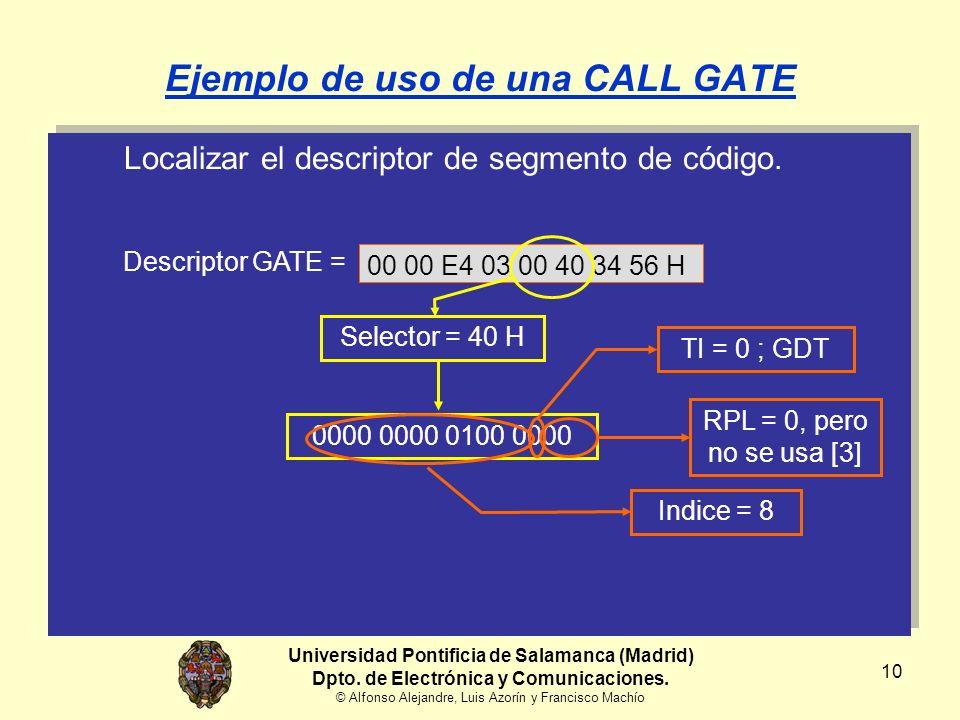 10 Localizar el descriptor de segmento de código.