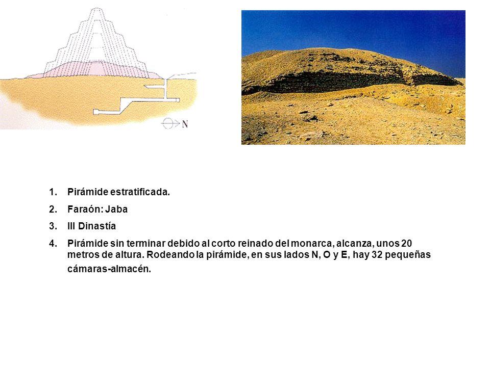 1.NOMBRE: Pirámide de Meryra-Pepy I 2.Dinastía VI 3.Localización: Saqqara 4.El nombre egipcio de este complejo funerario (Mennefer-Pepy) evolucionó con el tiempo y dio lugar al nombre de la zona: Menfis.