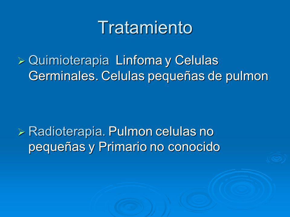 Tratamiento Quimioterapia Linfoma y Celulas Germinales. Celulas pequeñas de pulmon Quimioterapia Linfoma y Celulas Germinales. Celulas pequeñas de pul
